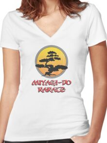Miyagi-Do Karate Women's Fitted V-Neck T-Shirt