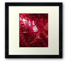 Red Mesh Framed Print