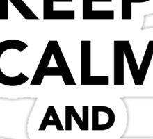 Keep calm and love cranes Sticker