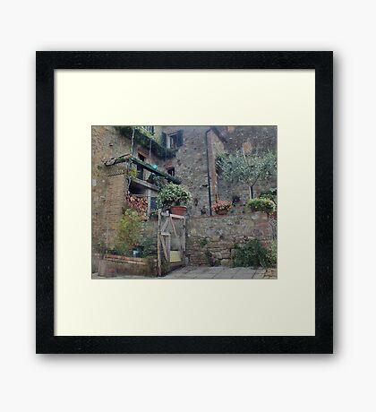 Italian Streetscape Framed Print