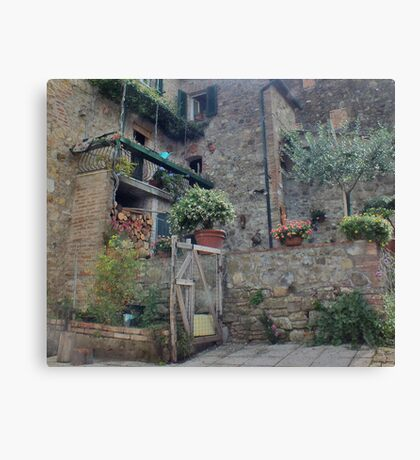 Italian Streetscape Canvas Print