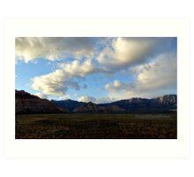Nevada November Skies 11 Art Print