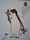 Holiday penguin by Judi Corey