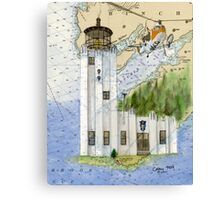Cape Hinchinbrook AK Lighthouse USCG Helicopter Canvas Print
