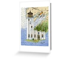 Cape Hinchinbrook AK Lighthouse USCG Helicopter Greeting Card