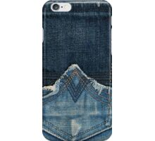 A Blue Jean Style Texture with Stitched Pocket iPhone Case/Skin