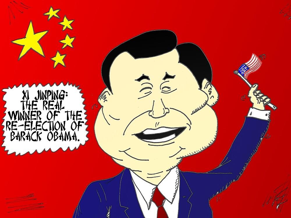 Xi Jinping political cartoon by Binary-Options