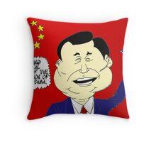 Xi Jinping political cartoon Throw Pillow