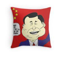 Xi JINPING caricature politique Throw Pillow