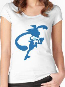 PKMN Silhouette - Froakie Family Women's Fitted Scoop T-Shirt