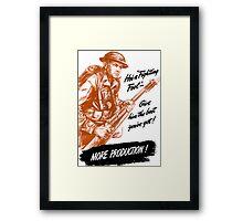 He's A Fighting Fool - WWII Propaganda Framed Print