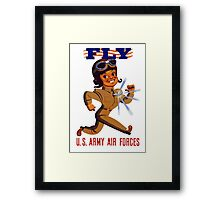 Fly Army Air Forces - WW2 Framed Print
