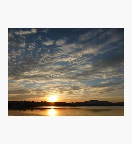 Inch Island Winter Sunset Photographic Print