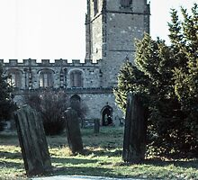 Grave at St Oswald's Durham 198101040024 by Fred Mitchell