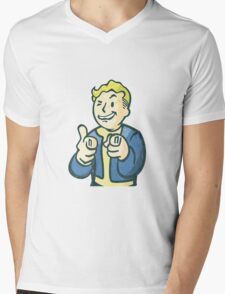 Fall out vault boy Mens V-Neck T-Shirt
