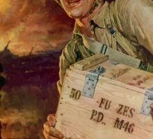 Pass The Ammunition - WWII Propaganda Sticker
