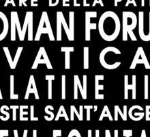 Rome City Roll Sticker