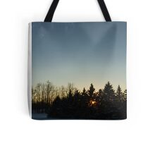 Cloudless winter Sunset Tote Bag