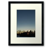 Cloudless winter Sunset Framed Print