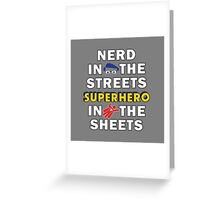 Nerd in the Streets Greeting Card
