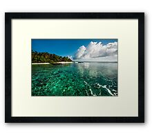 Emerald Purity. Kuramathi Resort. Maldives Framed Print