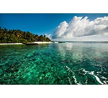 Emerald Purity. Kuramathi Resort. Maldives Photographic Print