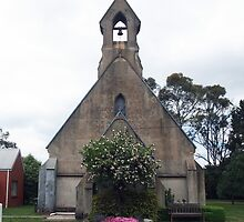 The Anglican Christ Church, Lancefield Vic Australia by Margaret Morgan (Watkins)