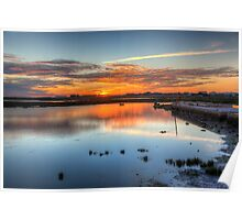 Sunset Quay Poster