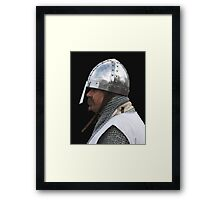 Medieval Knight Portrait Framed Print