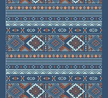 Aztec Pattern Ipad case by Jordan Bails