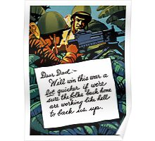 Soldier's Letter Home To Dad -- WW2 Poster