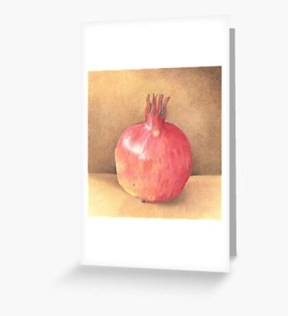 pomegranate - coloured pencil Greeting Card