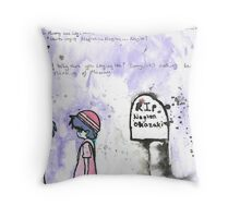 Wanna hear about mummy? Throw Pillow