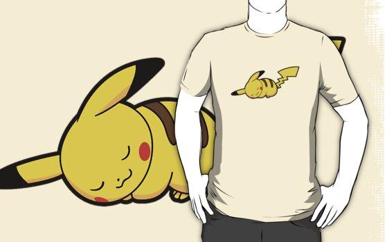 Pikachu Napping by pacmen
