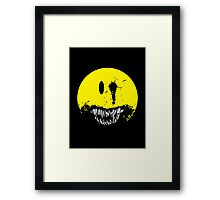first we eat the rich Framed Print