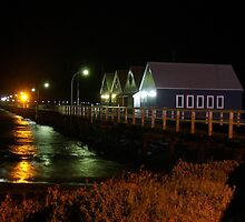 Busselton Jetty by night by DashTravels