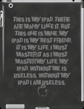 iPad users creed case by Teevolution