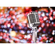 retro microphone Photographic Print