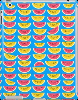 Watermelon slices by nekineko