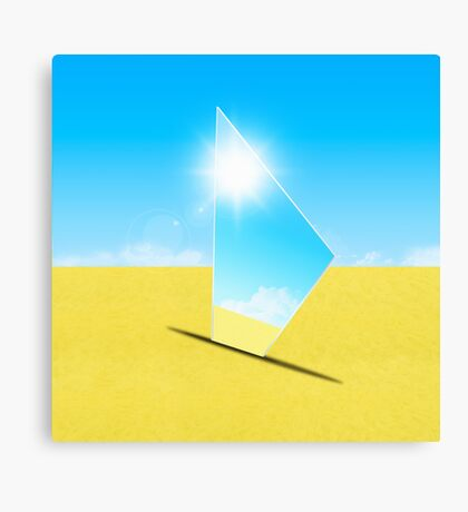 triangle mirror Canvas Print