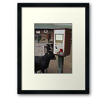 I'll get my own thanks.... Framed Print