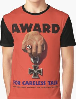 Award For Careless Talk -- WWII Graphic T-Shirt