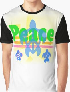 Peace Turtle Graphic T-Shirt