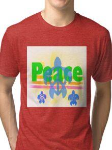 Peace Turtle Tri-blend T-Shirt