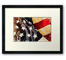 America flag postcard Framed Print