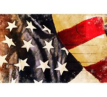 America flag postcard Photographic Print