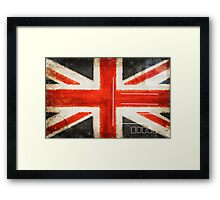 England flag postcard Framed Print