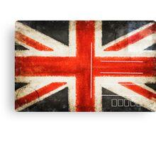 England flag postcard Canvas Print
