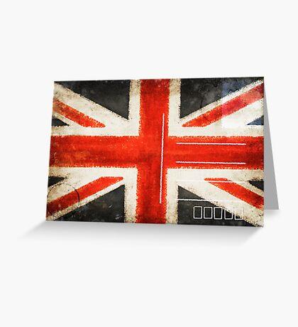 England flag postcard Greeting Card