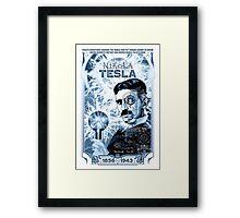 Inventor Nikola Tesla. Thomas Edison. Electricity Framed Print